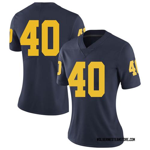 Women's Ben VanSumeren Michigan Wolverines Limited Navy Brand Jordan Football College Jersey