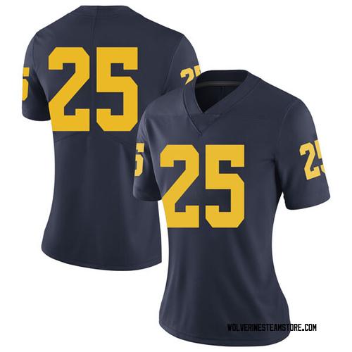 Women's Benjamin St-Juste Michigan Wolverines Limited Navy Brand Jordan Football College Jersey