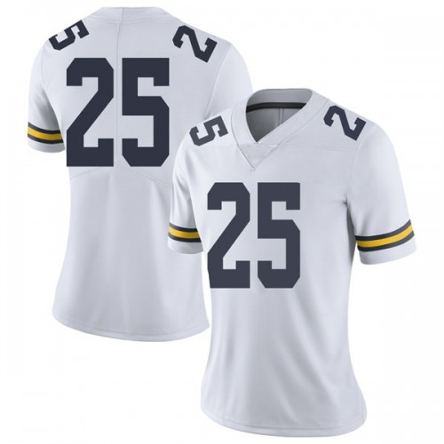Women's Benjamin St-Juste Michigan Wolverines Limited White Brand Jordan Football College Jersey