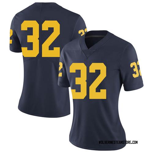 Women's Berkley Edwards Michigan Wolverines Limited Navy Brand Jordan Football College Jersey