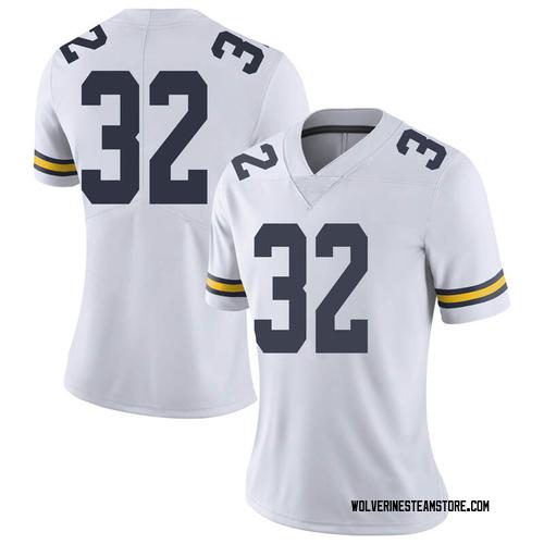 Women's Berkley Edwards Michigan Wolverines Limited White Brand Jordan Football College Jersey
