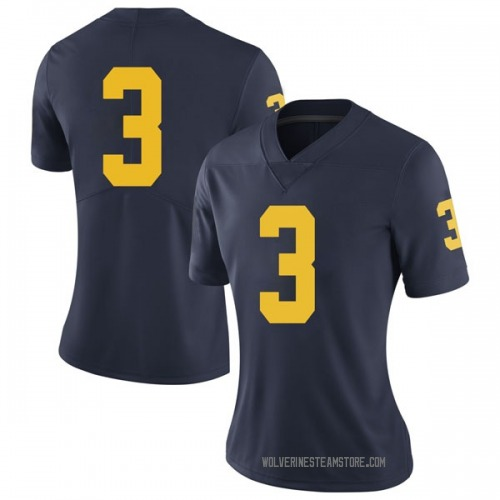 Women's Brad Robbins Michigan Wolverines Limited Navy Brand Jordan Football College Jersey