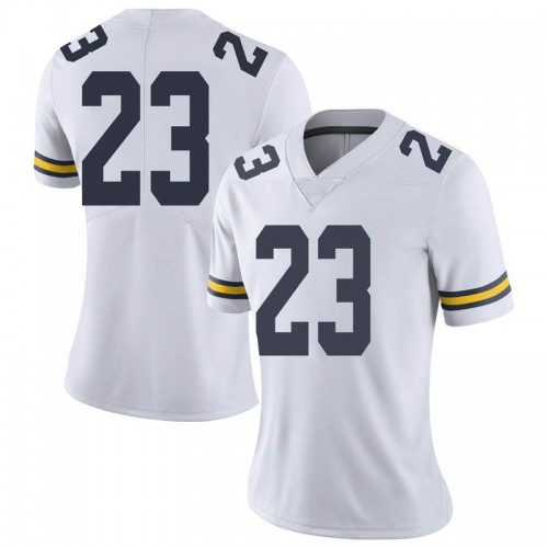 Women's Brandon Johns Jr. Michigan Wolverines Limited White Brand Jordan Football College Jersey