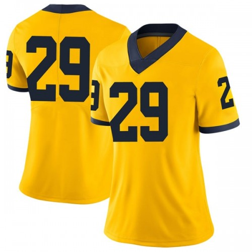 Women's Brendan White Michigan Wolverines Limited White Brand Jordan Maize Football College Jersey