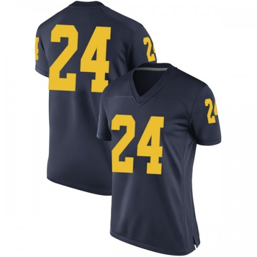 Women's C.J. Baird Michigan Wolverines Game Navy Brand Jordan Football College Jersey