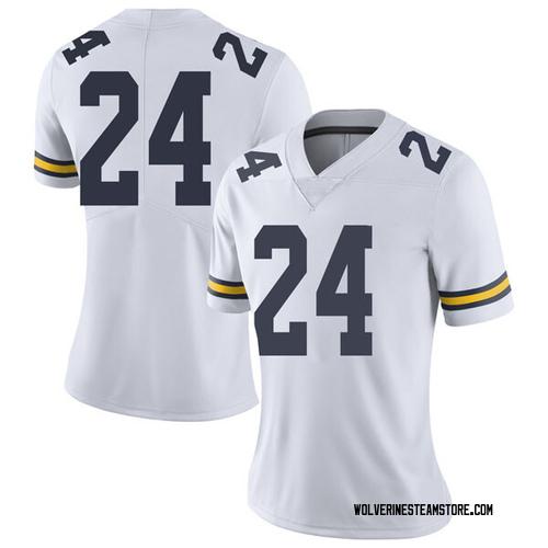 Women's C.J. Baird Michigan Wolverines Limited White Brand Jordan Football College Jersey