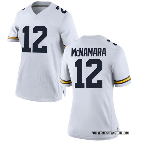 Women's Cade McNamara Michigan Wolverines Game White Brand Jordan Football College Jersey