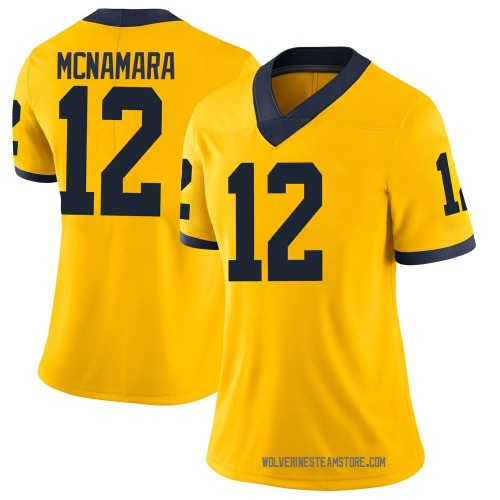 Women's Cade McNamara Michigan Wolverines Limited Brand Jordan Maize Football College Jersey