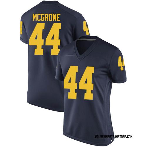 Women's Cameron McGrone Michigan Wolverines Game Navy Brand Jordan Football College Jersey