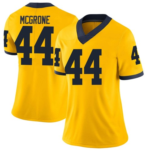 Women's Cameron McGrone Michigan Wolverines Limited Brand Jordan Maize Football College Jersey
