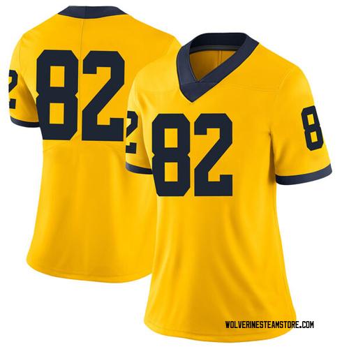 Women's Carter Selzer Michigan Wolverines Limited Brand Jordan Maize Football College Jersey