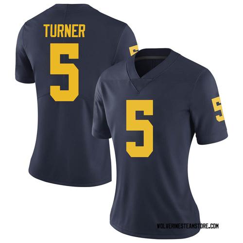 Women's DJ Turner Michigan Wolverines Limited Navy Brand Jordan Football College Jersey