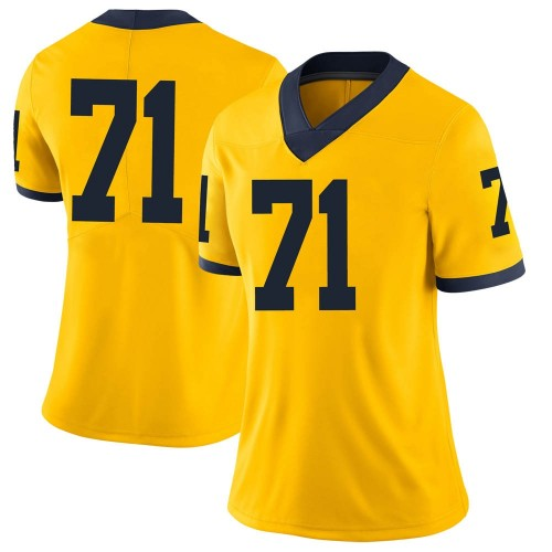 Women's David Ojabo Michigan Wolverines Limited Brand Jordan Maize Football College Jersey