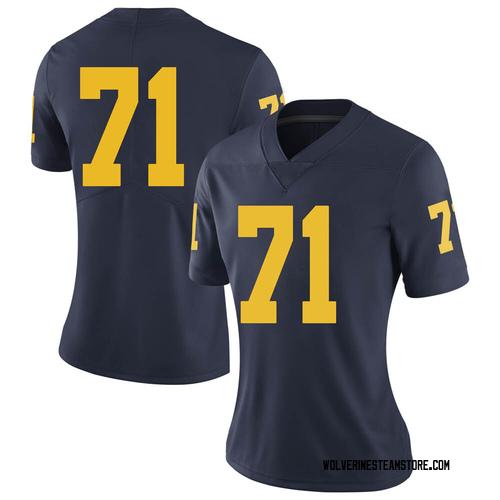 Women's David Ojabo Michigan Wolverines Limited Navy Brand Jordan Football College Jersey
