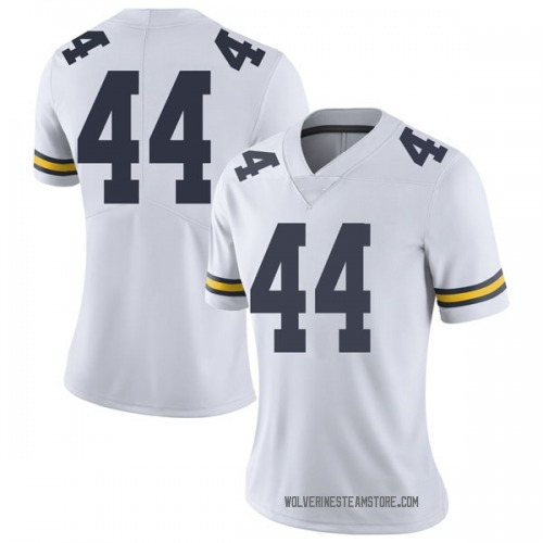 Women's Deron Irving-Bey Michigan Wolverines Limited White Brand Jordan Football College Jersey