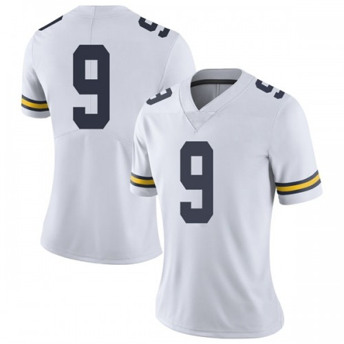 Women's Donovan Peoples-Jones Michigan Wolverines Limited White Brand Jordan Football College Jersey