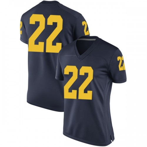 Women's Duncan Robinson Michigan Wolverines Game Navy Brand Jordan Football College Jersey