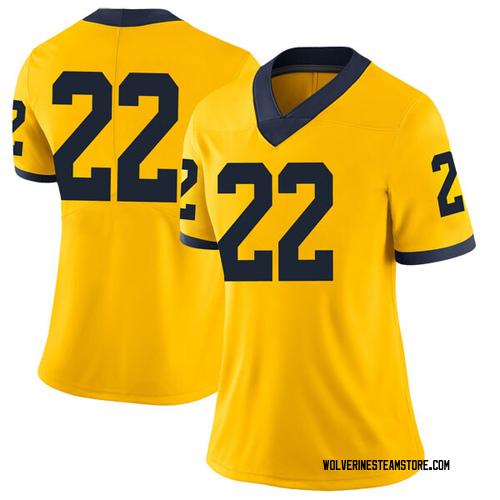 Women's Duncan Robinson Michigan Wolverines Limited Brand Jordan Maize Football College Jersey