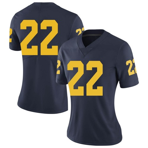 Women's George Johnson Michigan Wolverines Limited Navy Brand Jordan Football College Jersey