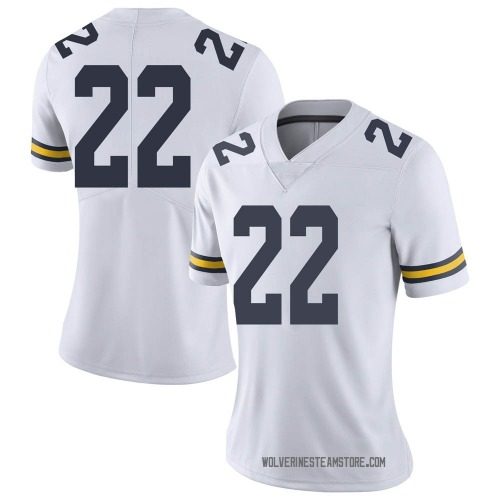 Women's George Johnson Michigan Wolverines Limited White Brand Jordan Football College Jersey
