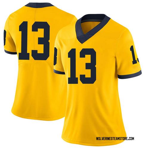 Women's Ignas Brazdeikis Michigan Wolverines Limited Brand Jordan Maize Football College Jersey