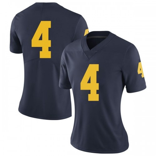 Women's Isaiah Livers Michigan Wolverines Limited Navy Brand Jordan Football College Jersey
