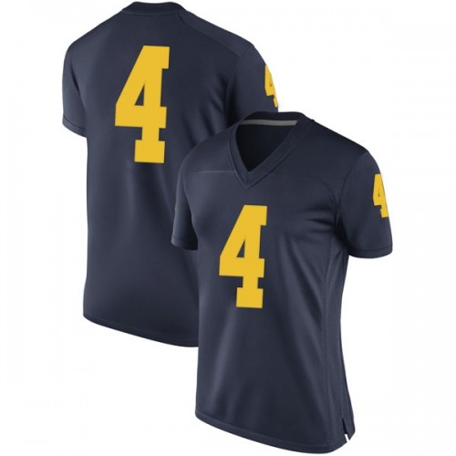 Women's Isaiah Livers Michigan Wolverines Replica Navy Brand Jordan Football College Jersey