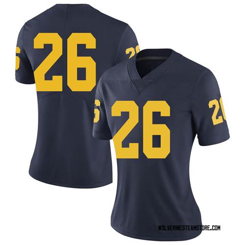 Women's J'Marick Woods Michigan Wolverines Limited Navy Brand Jordan Football College Jersey