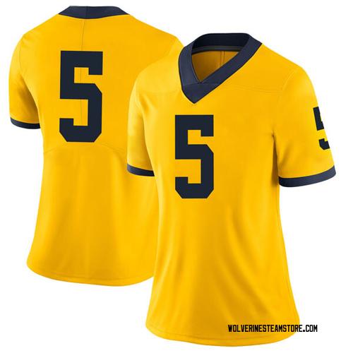 Women's Jaaron Simmons Michigan Wolverines Limited Brand Jordan Maize Football College Jersey
