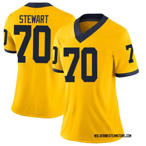 Women's Jack Stewart Michigan Wolverines Limited Brand Jordan Maize Football College Jersey