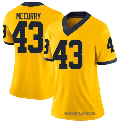 Women's Jake McCurry Michigan Wolverines Limited Brand Jordan Maize Football College Jersey