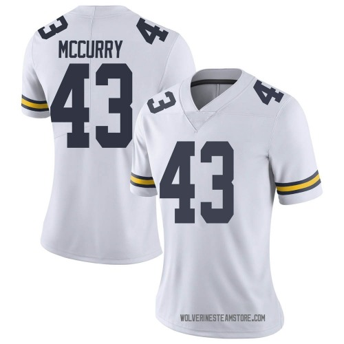 Women's Jake McCurry Michigan Wolverines Limited White Brand Jordan Football College Jersey