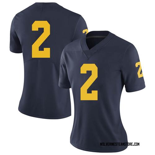 Women's Jake Moody Michigan Wolverines Limited Navy Brand Jordan Football College Jersey