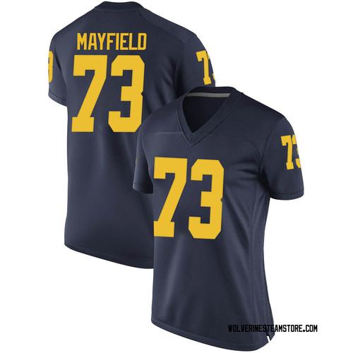 Women's Jalen Mayfield Michigan Wolverines Game Navy Brand Jordan Football College Jersey
