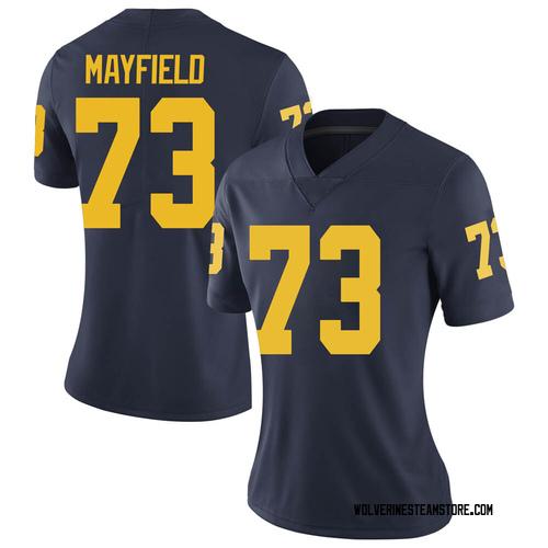 Women's Jalen Mayfield Michigan Wolverines Limited Navy Brand Jordan Football College Jersey
