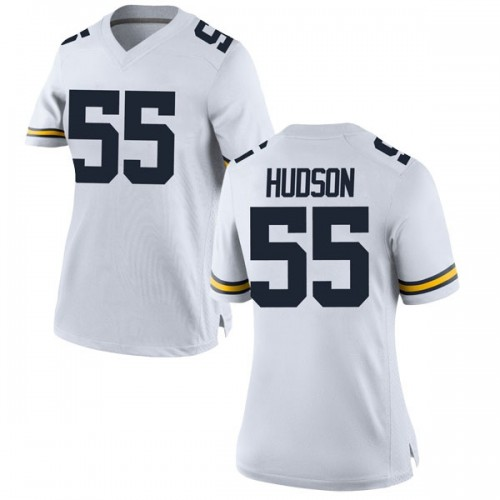 Women's James Hudson Michigan Wolverines Game White Brand Jordan Football College Jersey
