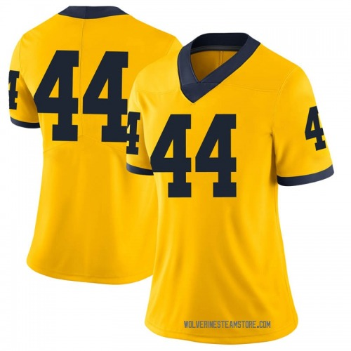 Women's Jaron Faulds Michigan Wolverines Limited Brand Jordan Maize Football College Jersey