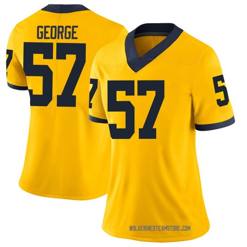 Women's Joey George Michigan Wolverines Limited Brand Jordan Maize Football College Jersey