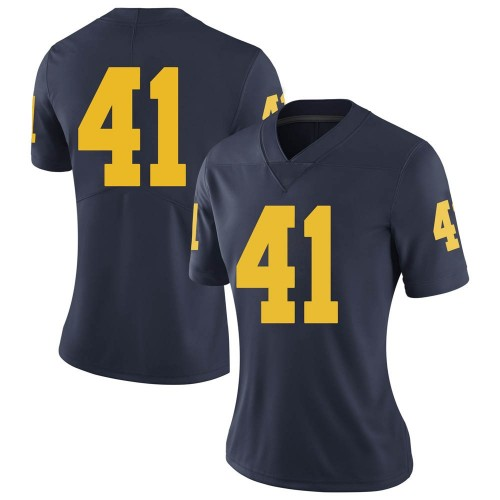 Women's John Baty Michigan Wolverines Limited Navy Brand Jordan Football College Jersey