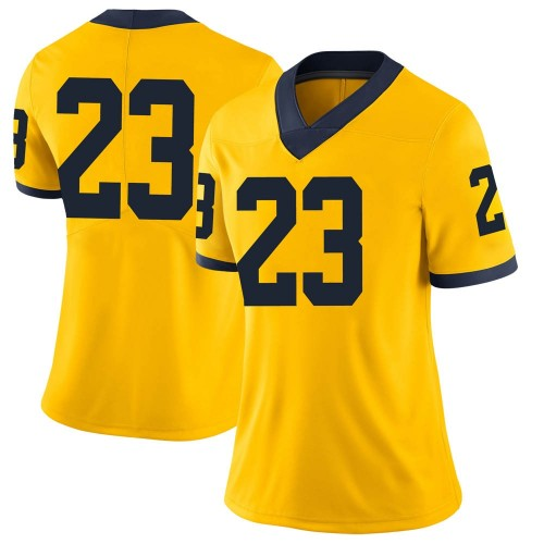 Women's Jordan Castleberry Michigan Wolverines Limited Brand Jordan Maize Football College Jersey