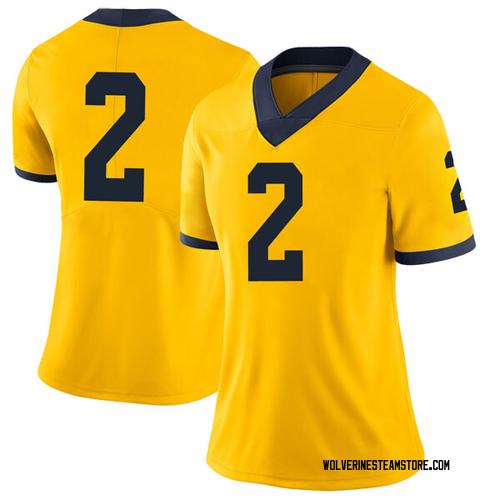 Women's Jordan Poole Michigan Wolverines Limited Brand Jordan Maize Football College Jersey