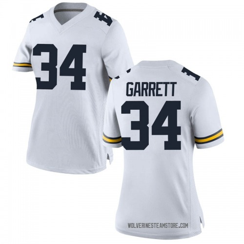 Women's Julian Garrett Michigan Wolverines Replica White Brand Jordan Football College Jersey