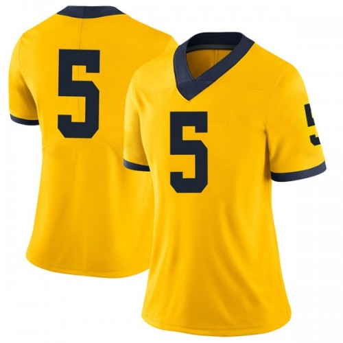Women's Kurt Taylor Michigan Wolverines Limited Brand Jordan Maize Football College Jersey