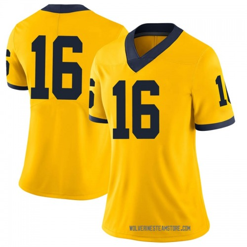 Women's Max Wittwer Michigan Wolverines Limited Brand Jordan Maize Football College Jersey