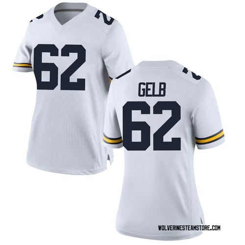 Women's Mica Gelb Michigan Wolverines Replica White Brand Jordan Football College Jersey