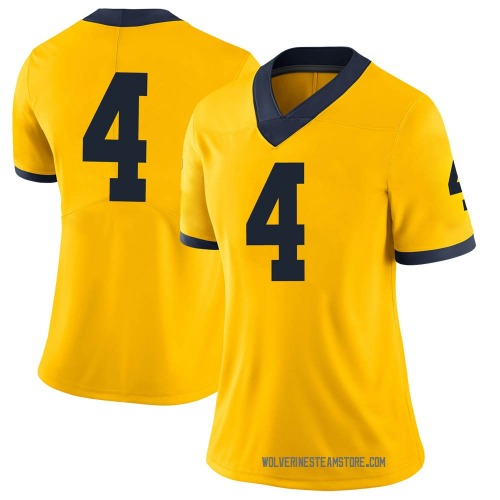 Women's Mike Danna Michigan Wolverines Limited Brand Jordan Maize Football College Jersey