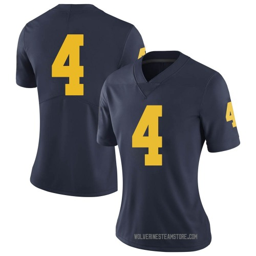 Women's Mike Danna Michigan Wolverines Limited Navy Brand Jordan Football College Jersey