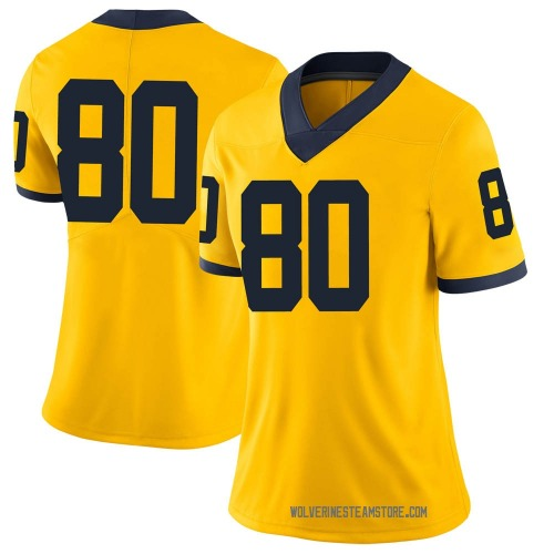 Women's Mike Morris Michigan Wolverines Limited Brand Jordan Maize Football College Jersey