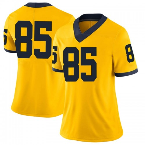 Women's Mustapha Muhammad Michigan Wolverines Limited Brand Jordan Maize Football College Jersey