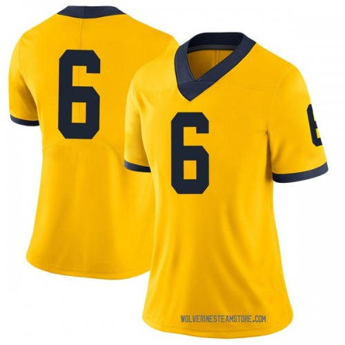 Women's Myles Sims Michigan Wolverines Limited Brand Jordan Maize Football College Jersey